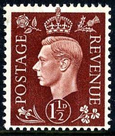 SG 464 1937 1½d dark brown