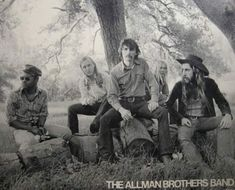The Allman Brothers Band at the James Arness Ranch. During the Eat a Peach Summer Tour. Malibu Ca. Berry Oakley, Dickey Betts, Hollywood Music, Rock Falls, Allman Brothers, Band Posters, Music Posters, Great Pic, Iconic Photos