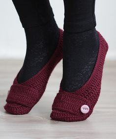 Handmade Women Slippers, Turkish Knitted slippers, Authentic footwear, Stylish foot wear, burgundy, oxblood