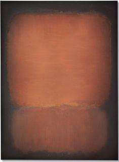 Mark Rothko, No. 10 (1958), oil on canvas. Photo courtesy Christie's.