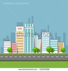Flat business city urban landscape, vector illustration. Flat city web template. Flat city illustration. Flat city landscape. Flat city eps. Flat city design. Flat city jpg