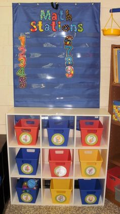 interesting idea for organizing math centers.