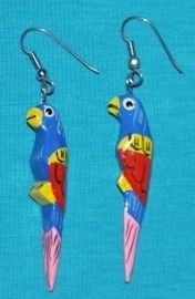 Parrot Earrings. #80s #childhoodmemories #nostalgia