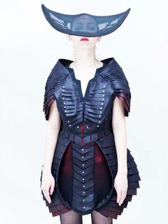 Feminine Insectified Couture - Jacob Birge 'Symmetric Strategy' Inspires Insect Fashion (GALLERY)