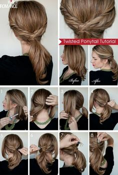 DIY Twisted Ponytail Hairstyle DIY Twisted Ponytail Hairstyle