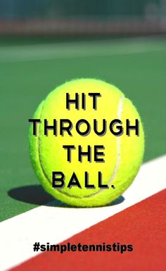 ❤️ Hit through the ball. It's that simple:)