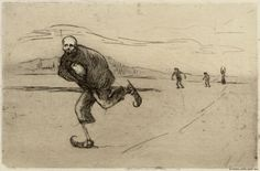 Hugo Simberg (Finnish, Death is Skating. Etching and drypoint, x cm. Classical Art, Strasbourg, Impressionism, Art Museum, Art Nouveau, Death, Gallery, Skating, Paintings