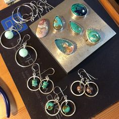 @mothersonthemountain Successful day in progress land.  Bezels soldered and fitting their stone and more hoop earrings finished up.  Plus a beautiful new Crazy Lace agate!  #instajewelrygroup #metalsmithsunite #riojeweler #instajeweler #instasmithy #makingjewelry #makingsilverjewelry #lovewhatido #atthebench #