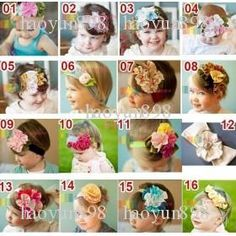 TOP BABY Girls Hair Bands Babys Girl's Flower Cotton Headbands Hairband Hair Orn
