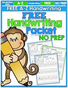 The Moffatt Girls: FREEBIE: A-Z Handwriting Practice Pages!