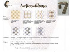 rocailleuse free diagram tutorial for units that can make a bracelet or ring