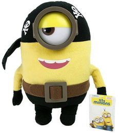 Minions Knuffel Stuart - Piraat (28cm) #minion #minions #kevin #bob #stuart #pluche #speelgoed #knuffel #minionsartikelen