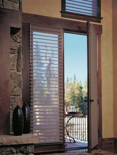Silhouette window shadings on a French Door, for sale at Carefree Coverings in SCOTTSDALE, AZ