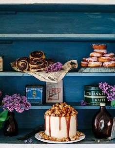 Call me cupcake: Chocolate cake with caramel buttercream and crunchy caramel popcorn