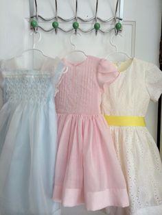 heirloom variations on Oliver + S fairy tale dress pattern