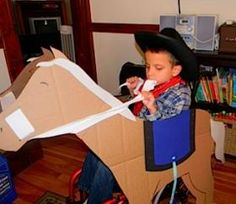 Cowboy and horse Halloween wheelchair costume