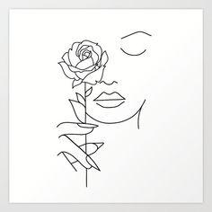 Illustration about Woman face with rose flower. Continuous line drawing. Illustration of drawn, elegant, character - 142574958 Illustration about Woman face with rose flower. Continuous line drawing. Illustration of drawn, elegant, character - 142574958 Rose Line Art, Rose Art, Minimalist Drawing, Minimalist Art, Art Drawings Sketches, Easy Drawings, Face Line Drawing, Outline Art, Abstract Line Art