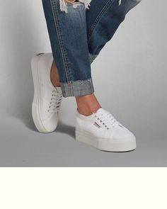Womens Superga Platform Sneaker