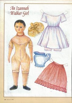 ANNA* 1500 free paper dolls at Arielle Gabriel's International Paper Doll Society for Pinterest paper doll pals *