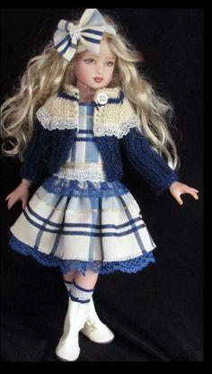 Handmade dress set made for Helen Kish Dolls