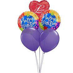 Flying Balloons With Love Order BalloonsSend BalloonsBalloons OnlineHappy Birthday