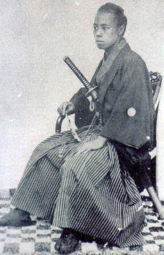 Seated samurai.