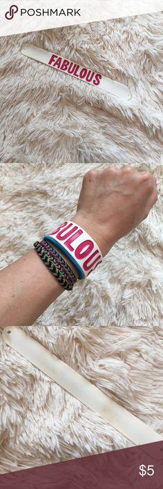 Fabulous Slap Band Fabulous slap band. Some marks on back Jewelry Bracelets