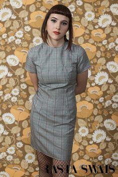 Rasha Swais Skinhead/Mod Prince of Wales Check mini Dress Dress Suits, Shirt Dress, Skinhead, Prince Of Wales, London, High Neck Dress, Short Sleeve Dresses, Casual, Shirts