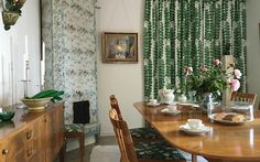 The dining room in Anne's House, Millesgarden, furnished with Josef Frank furniture by Estrid Ericson