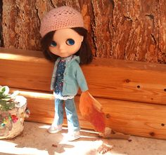 Blue jacket for Blythe by RainbowDaisies on Etsy