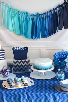 Blue And White Nautical Baby Shower Baby Shower Ideas . Easy Baby Shower Decorations For Boys - Rubber Duck Baby . Teal And Pink Modern Chic Baby Shower Baby Shower Ideas . Baby Shower Azul, Deco Baby Shower, Boy Baby Shower Themes, Baby Shower Gender Reveal, Baby Shower Parties, Baby Shower Gifts, Baby Shower For Boys, Boy Baby Showers, Baby Shower Decorations For Boys