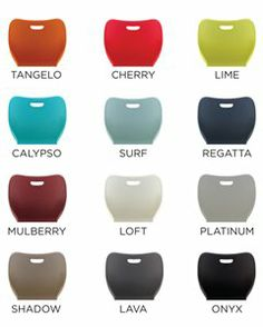 HON's plastic shell colors for education furniture. Learn more at www.hon.com.