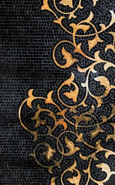 Glass Mosaic BRECCI GOLD MOSAICS by Brecci Glass