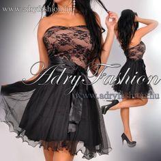 c5b95366e4 Elegáns tüll csipke betétes fekete alkalmi női ruha - AdryFashion női ruha  webáruház, Ruha webshop, Amnesia, NedyN, Rensix , Egyedi ruha