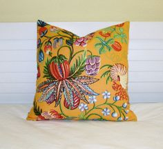 Quadrille China Seas Jacaranda in Mango Designer Pillow Cover - Square, Lumbar and Euro Pillow Cover by SewSusieDesigns on Etsy https://www.etsy.com/listing/196149195/quadrille-china-seas-jacaranda-in-mango