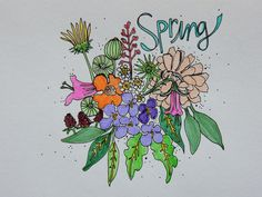 Spring Bouquet    - Art by, Jesse Made It