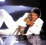 """*MICHAEL JACKSON ~ The late Michael Jackson had a long, long career, beginning in his childhood, but it's perhaps his teen Idol phase that's most memorable. Jackson's """"Thriller"""" years mad him a bonafide dreamboat. That baby tiger didn't hurt, either. Jackson Family, Janet Jackson, Jackson Hall, Paris Jackson, Michael Jackson Thriller Jacket, Invincible Michael Jackson, Pochette Album, King Of Music, Mj Music"""