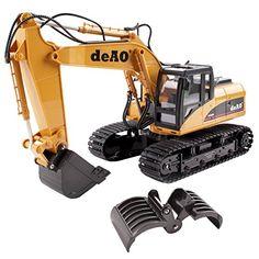deAO RC Excavadora  Camión Teledirigido con Extensión Variable 2.4GHz Sync System para modo Multi Jugador