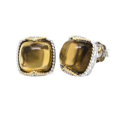 Andrea Candela 18K Silver Cognac Quartz Cab Earrings - Style Code: ACE437-C - Dulcitos Collection - Authorized Andrea Candela Retailer - FREE PRIORITY SHIPPING ! Fashion Earrings, Gemstone Rings, Quartz, Gemstones, Silver, Jewelry, Free, Style, Collection