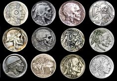 Carved Coins. We love coins at Renaissance Fine Jewelry in Vermont or at www.vermontjewel.com. Contact us at sales@vermontjewel.com. Please support and be a member of the American Numismatic Association.