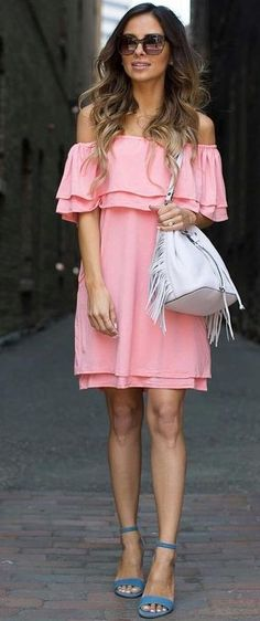 #summer #feminine #style |  Little Pink Dress