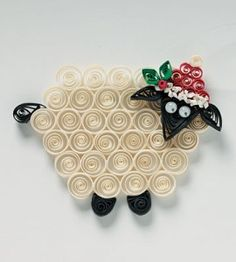 Sweet sheep Christmas DIY ornament is easy to craft from paper. Paper Quilling Cards, Quilled Paper Art, Paper Quilling Designs, Quilling Patterns, Quilling Work, Quilling Craft, Quilling Ideas, Diy Crafts For Gifts, Holiday Crafts