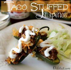 ~Taco Stuffed Jalapenos!