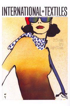 International Textiles, by René Gruau Dior Fashion, Fashion Dolls, Fashion Art, Rene Gruau, Fashion Sketches, Fashion Drawings, Illustrations Posters, Fashion Illustrations, Fashion Forever