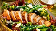 Our Onion-Crusted #Chicken with South of France Salad is a special mid-week meal, without the fuss. #Knorr