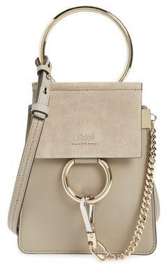 Chloe Faye Small Suede  amp  Leather Bracelet Bag - Grey  handbags  tote   836f0a946
