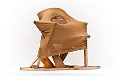 "Erwin Wurm [Austria] (b 1954) ~ ""Architecture"", 2011. Fabric, wood (85 x 60 x 111 cm).   #art #sculpture #figurative #conceptual_art #installation"