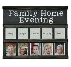 Family Home Evening Chart Churches Craft and Board