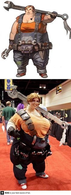 Mother of cosplay! I know her!!! I'm so excited that she is on these sites for her cosplay