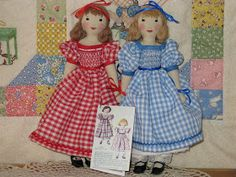 A Doll Shop of My Own: Belinda and Lucinda-Edith Flack Ackley pattern dolls Fabric Dolls, Rag Dolls, Comfortable Bras, Doll Shop, Sewing Dolls, Doll Maker, Hello Dolly, Soft Dolls, Doll Crafts